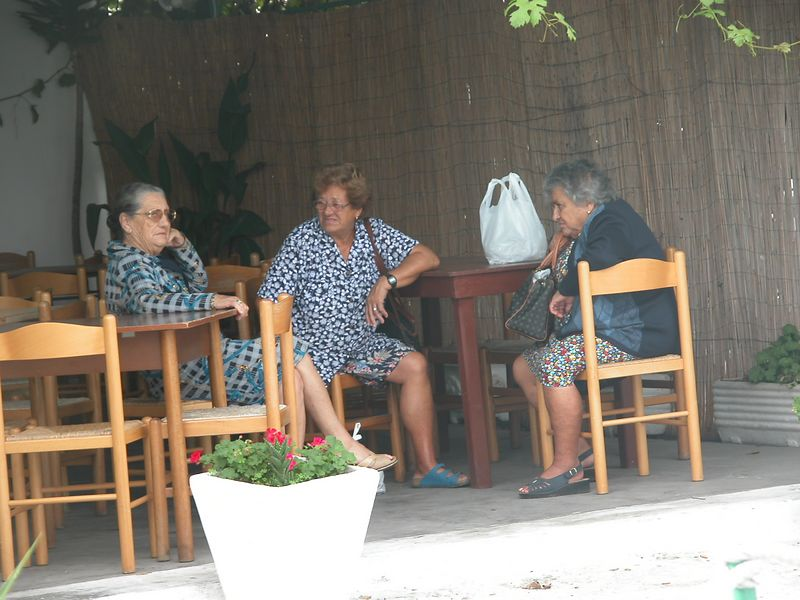 Ponza, Italy<br /> Women talking