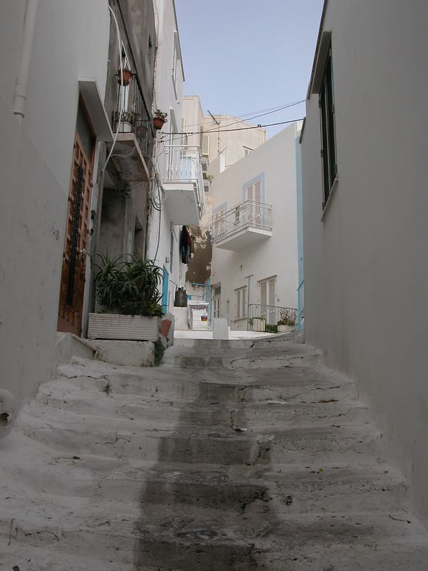 Ponza, Italy<br /> White stairs