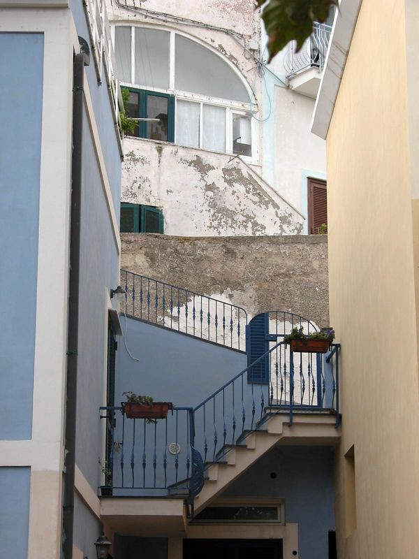 Ponza, Italy<br /> Stairs leading to homes