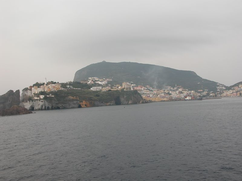 Arrival at Ponza, Italy