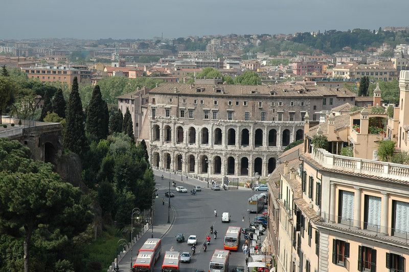 Theater of Marcellus view from the Vittoriano