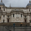 Our room wasn't ready till noon so we walked in the rain. this is the back side of Santa Maria Maggiore.