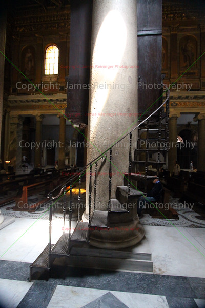 Winding Staircase (Basilica of Our Lady in Trastevere )