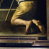 Madonna di (of) Loreto (Oil on canvas), AKA  Madonna dei Pellegrini by Michelangelo Merisi da Caravaggio, Chapel of the Madonna of Loreto, Basilica di Saint Agostino, 1604 to 1606.
