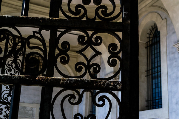 Wrought iron at the porch