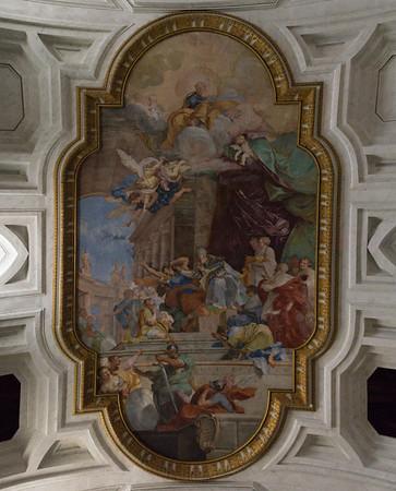 Miracle of the Chains - Vault fresco by Giovanni Battista Parodi