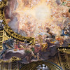 """Nave vault Fresco """"Triumph of the Name of Jesus"""" by Giovan Battista Gaulli, also known as Baciccio, or Baciccia. Wood and stucco figurative elements designed by Gaulli, and created by Antonio Raggi and Leonardo Reti."""