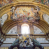 Saint Ignatius Chapel (designed by Andrea Pozzo), contains the saint's tomb, urn, and macchina barocca (Baroque Machine).