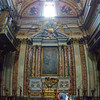 Saint Ignatius Chapel (designed by Andrea Pozzo), contains the saint's tomb, urn, and macchina barocca (Baroque Machine). Pano