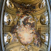 "Nave vault Fresco ""Triumph of the Name of Jesus"" by Giovan Battista Gaulli, also known as Baciccio, or Baciccia. Wood and stucco figurative elements designed by Gaulli, and created by Antonio Raggi and Leonardo Reti. Pano"