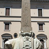 "The Elephant and Obelisk (by Gian Lorenzo Bernini) in the Palazzo Fonseca front of Saint Maria Sopra Minerva Basilica. Commissioned by Pope Alexander VII. ""A symbol of Egyptian wisdom, is supported by an elephant, the strongest of all animals, a robust mind is required to achieve wisdom"""
