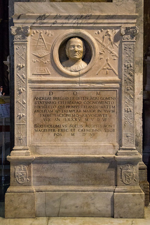 Monument to Andrea Bregno by Luigi Capponi, his favorite assistant