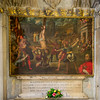 Artist: unk Name: Martyrdom of Saints Philip and James Medium: Oil Size: unk Date: 1500 Location: Left transept, Basilica di Santa Maria in Trastevere Remarks: Dedicated to Saints Philip and James. The altarpiece is a 16th century painting showing the martyrdom Saints Philip and James. Commissioned by Cardinal d'Alençon, he appears in it on the right.
