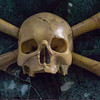 Skull and crossbones (Marble), Apse, Church of Santa Maria del Popolo.