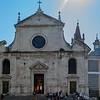 Façade, Santa Maria del Popolo. Located on the north side of Piazza del Popolo.