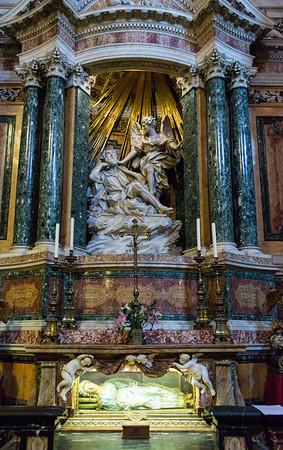 Vision (Dream) of St Joseph by Domenico Guidi; Chapel of St Joseph