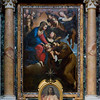 Altarpiece - Our Lady Offering the Christ Child to St Francis - by Domenichino; Chapel of St Francis (dedicated to St Francis of Assisi)