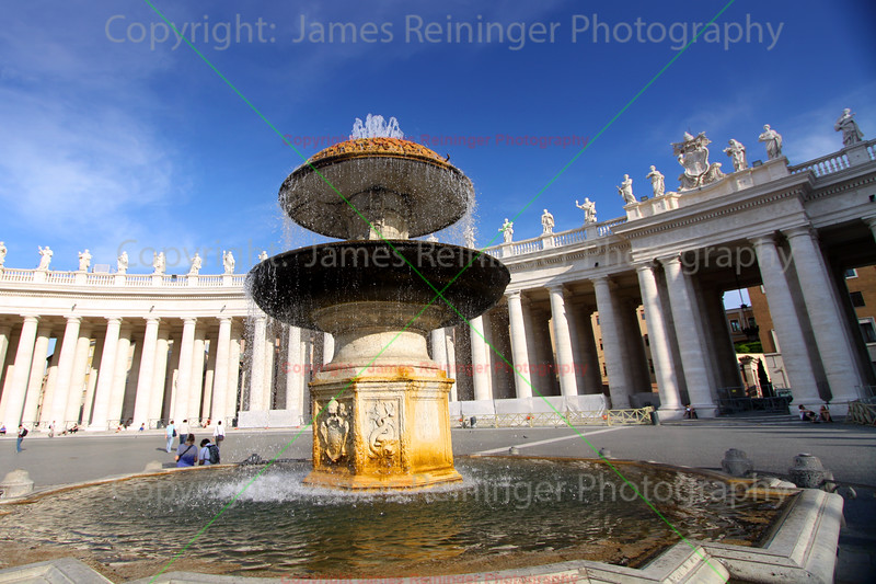 Water Fountain and Colonnade