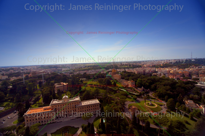 View of Rome from the top of Basilica of Saint Peter<br /> Vatican City<br /> Rome, Italy