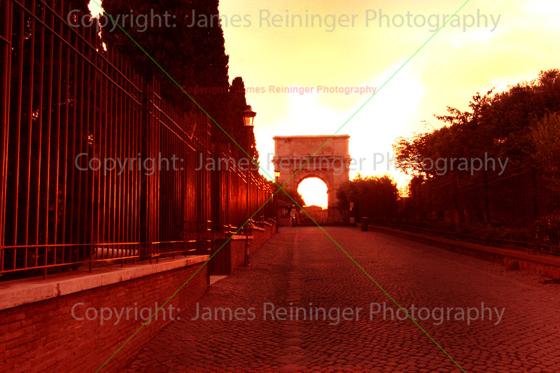 Arch of Titus at Sunset