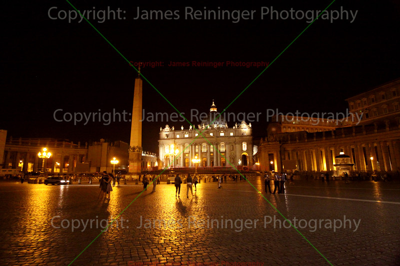 Saint Peter's Square at Night