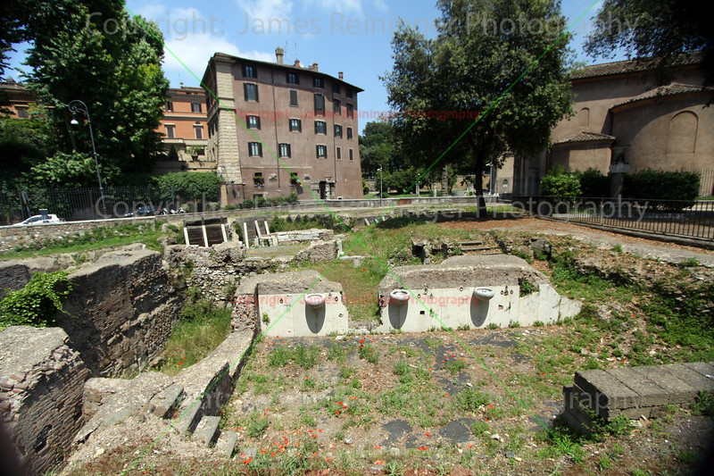 Archaeological Excavations Forum Holitorium (vegetable market of ancient Rome)