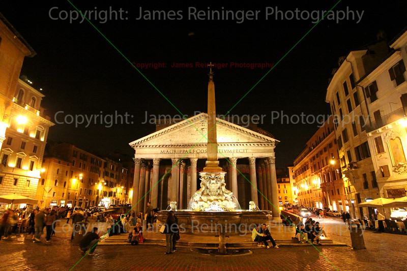 The Patheon at Night