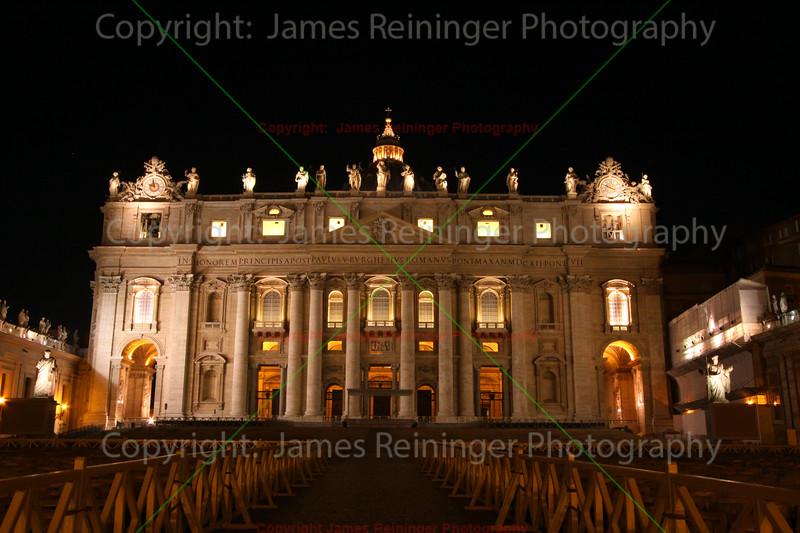 Saint Peter's Basilica at Night