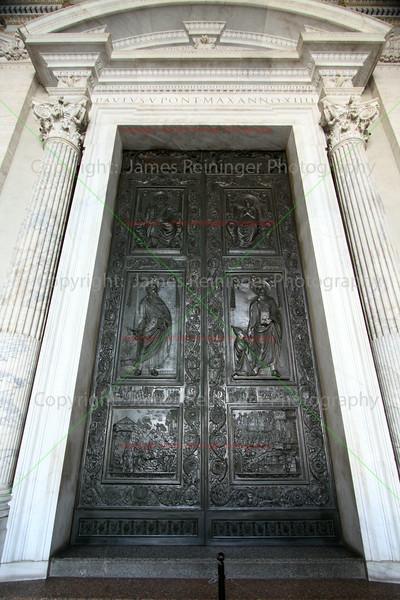 Front Door of Saint Peter's Basilica <br /> Rome, Italy