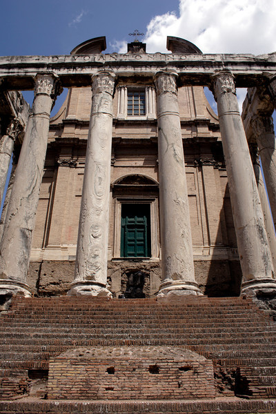Temple of Antoninus and Faustina at the Forum Rome