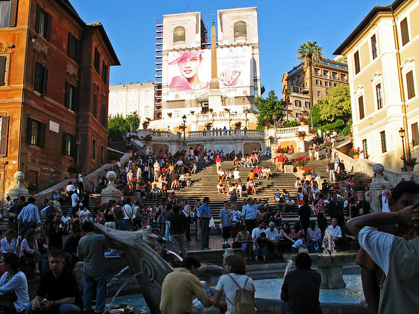 The Spanish Steps at dusk