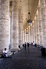 Interior of double colonnaded wing at St Peters Square Rome