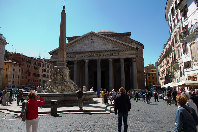 Outside the Pantheon