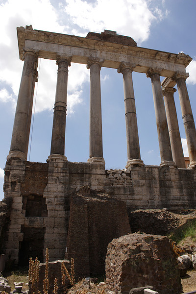 Temple of Saturn at the Forum Rome