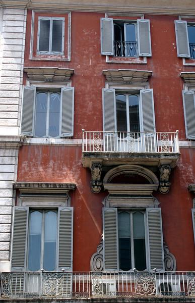 Building facade on the Via del Corso Rome
