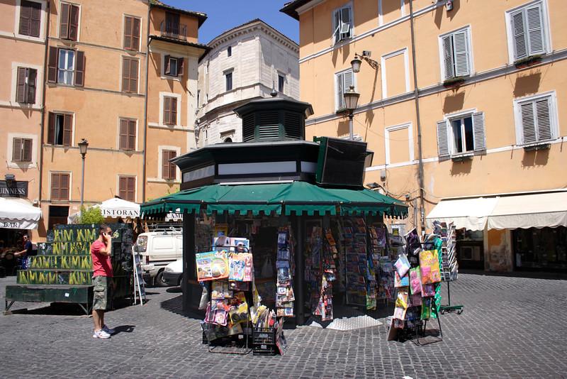 Kiosk at the Campo de Fiori Rome