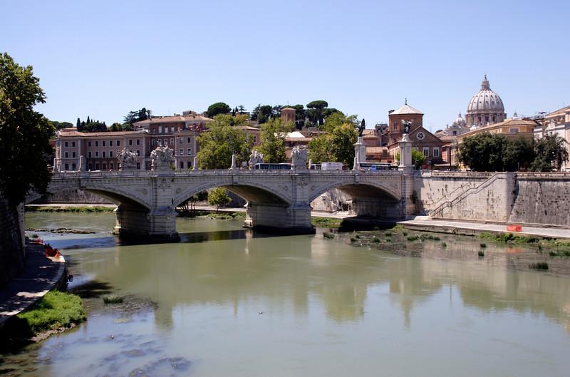 Bridge over the River Tiber near the Vatican Rome
