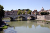 Bridge over the River Tiber near the Vatican Rome