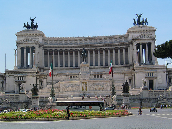 Monument to Victor Emmanuel, II, the first king of Italy