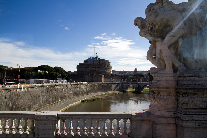 Castel Sant'Angelo from the bridge of Angles