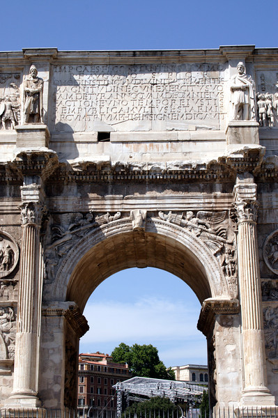 Arch of Constantine near the Colosseum Rome