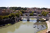 River Tiber Rome view from the Castel Sant Angelo
