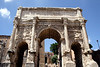 Triple arch of Septimus Severus at the Forum Rome