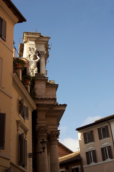 Sculpture everywhere in Rome!