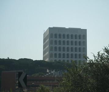 """Palazzo della Civilita, Benito Mussolini's """"square colisseum'"""