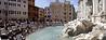 Panoramic of Trevi Fountain Rome