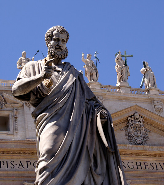 Statue of Saint Peter at Saint Peters Square Rome