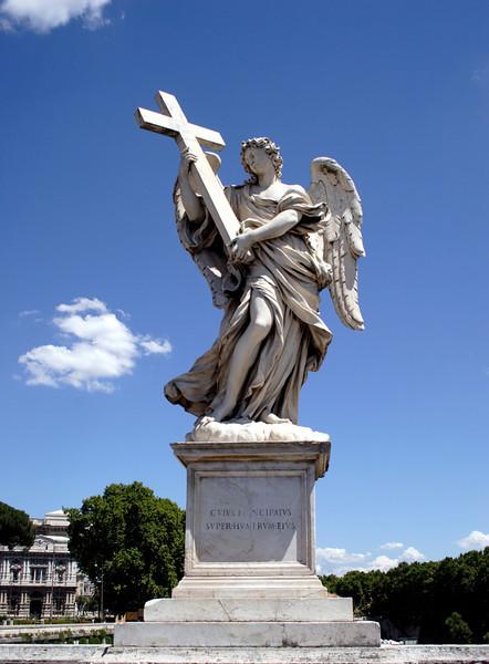 Statue on the Ponte Sant Angelo bridge Rome