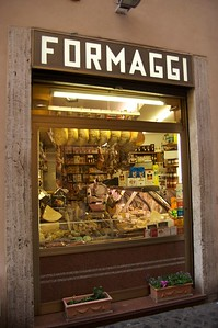 Roman meat and cheese shop