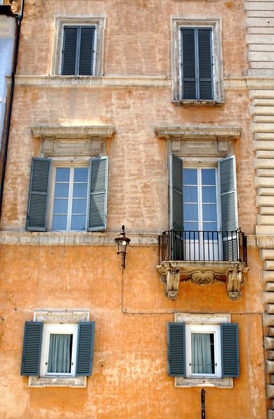 Building facade at the Piazza della Rotonda Rome